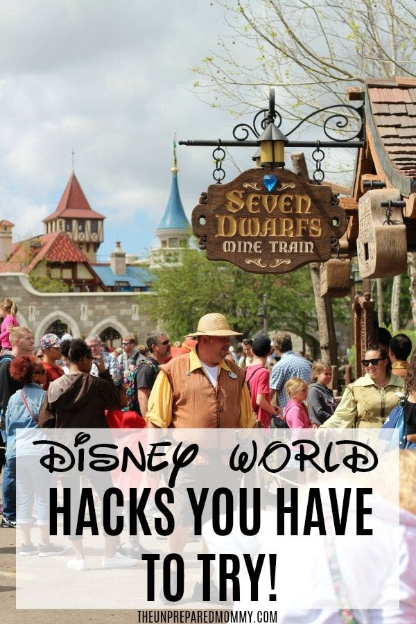Easy Disney World Hacks To Save You Time and Energy  The Unprepared Mommy is part of Disney world tips and tricks - If you are looking for a few fun tips and hacks for your Disney vacation, here are a few easy Disney World hacks to help get you started