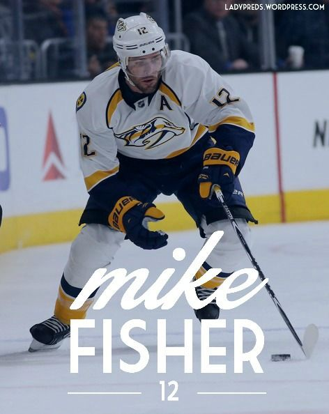 Mike Fisher 12 Nashville Predators Nashville Predators Hockey Nashville Predators Predators Hockey