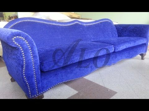 Diy How To Reupholster A Sofa Bed Alo Upholstery Youtube Sofa Upholstery Reupholster Furniture Sofa Frame