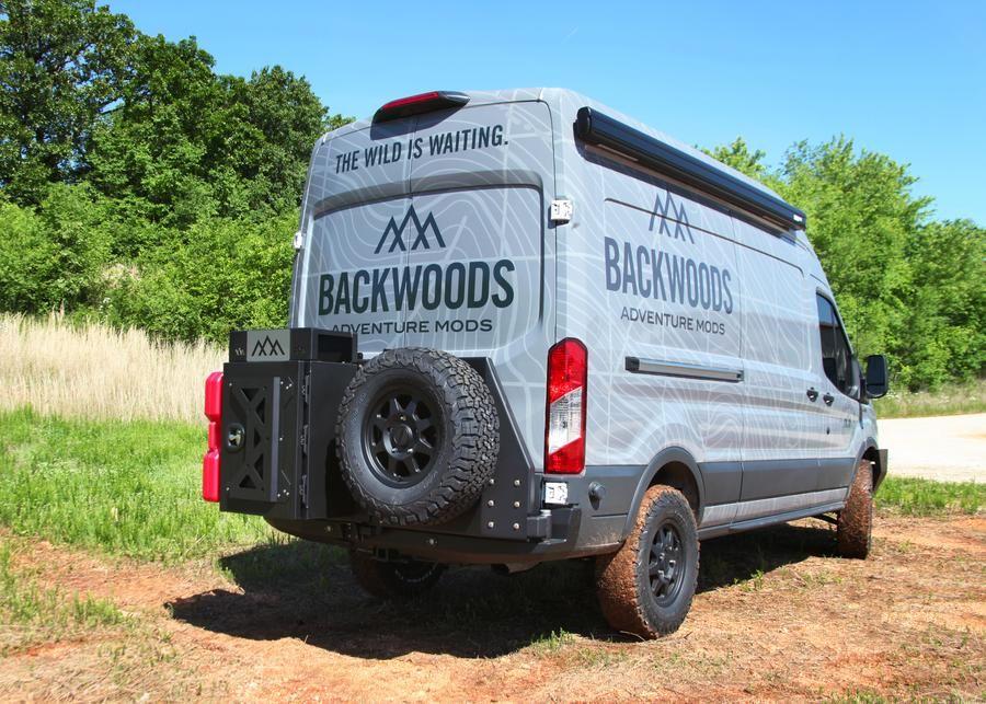Ford Transit 2015 2019 Rear Swing Out Bumper Ford Transit Ford Transit Campervan Recovery Gear