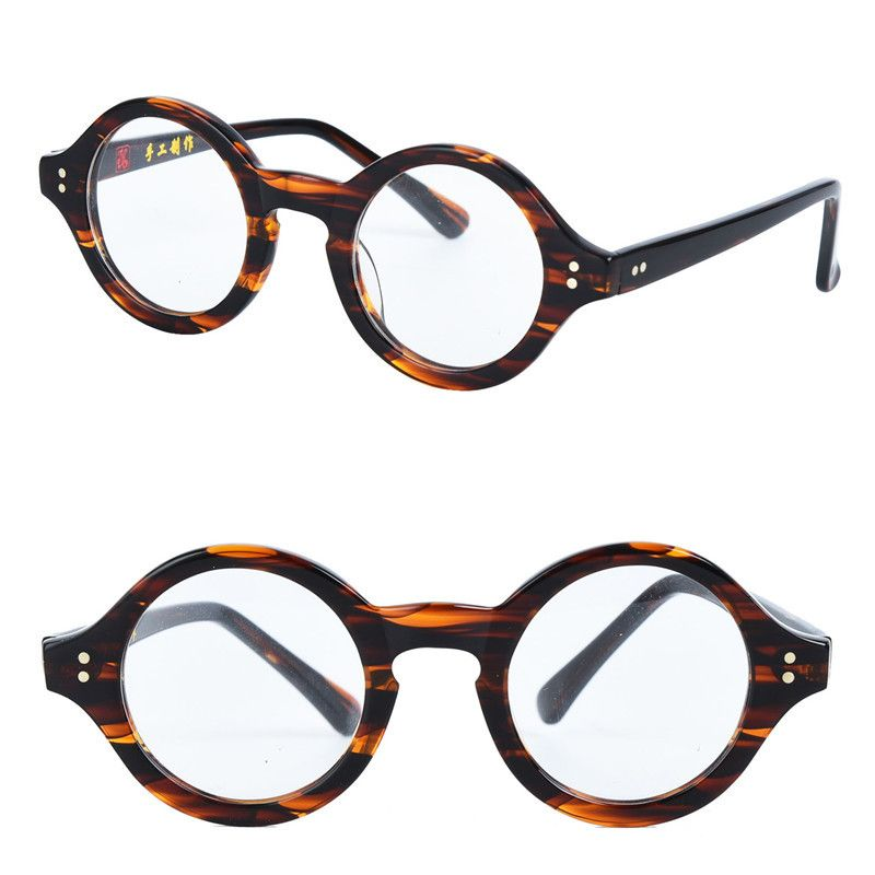 f77275e2e51 Cubojue Small Round Glasses Acetate Men Women Tortoise Vintage Eyeglasses  Frame for Man Myopia Diopter Optical Prescription Male Review