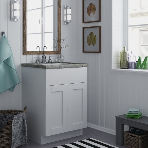 Picture Collection Website Altra White inch Shaker Style Bath Vanity Cabinet
