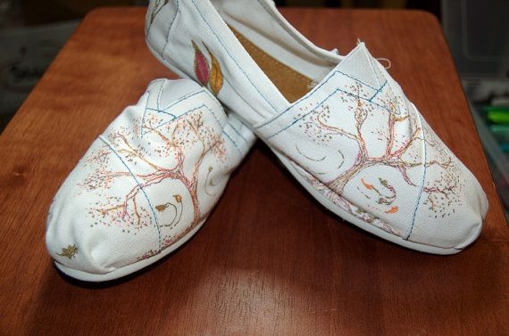 Customized TOMS - fall, wedding bride shoes, delicately embellished just for you