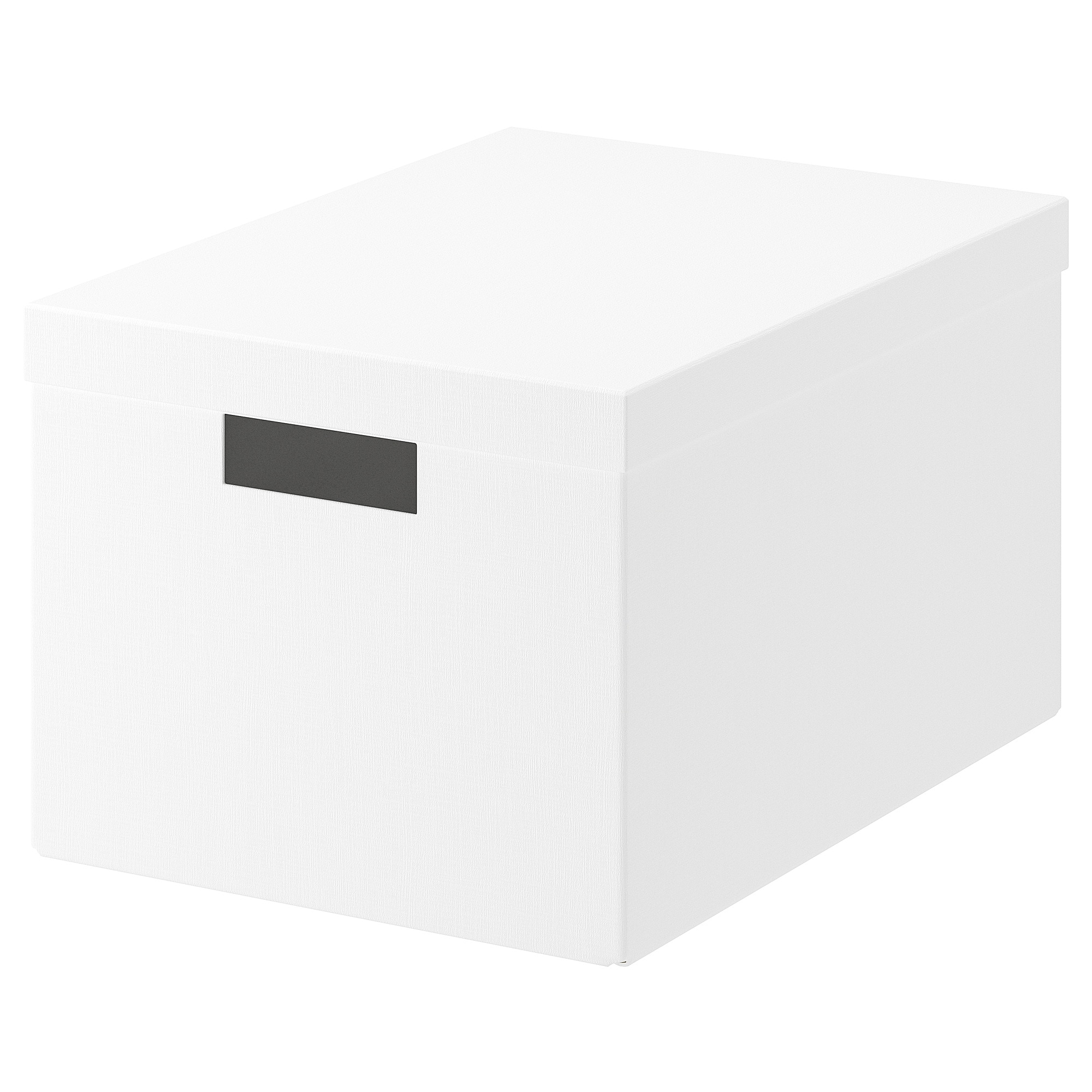 Tjena Storage Box With Lid White 9