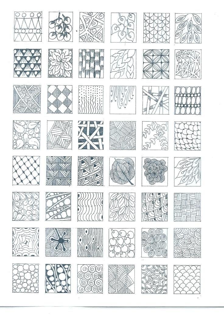 Zentangle Basic Patterns Beautiful Patterns Ideas On Zen Doodle Delectable Zentangle Pattern Ideas