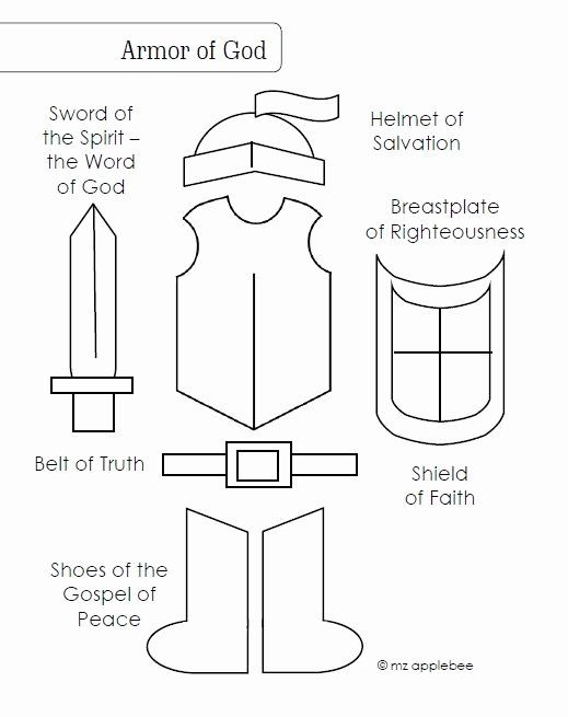 Armor Of God Coloring Page Beautiful 1000 Images About