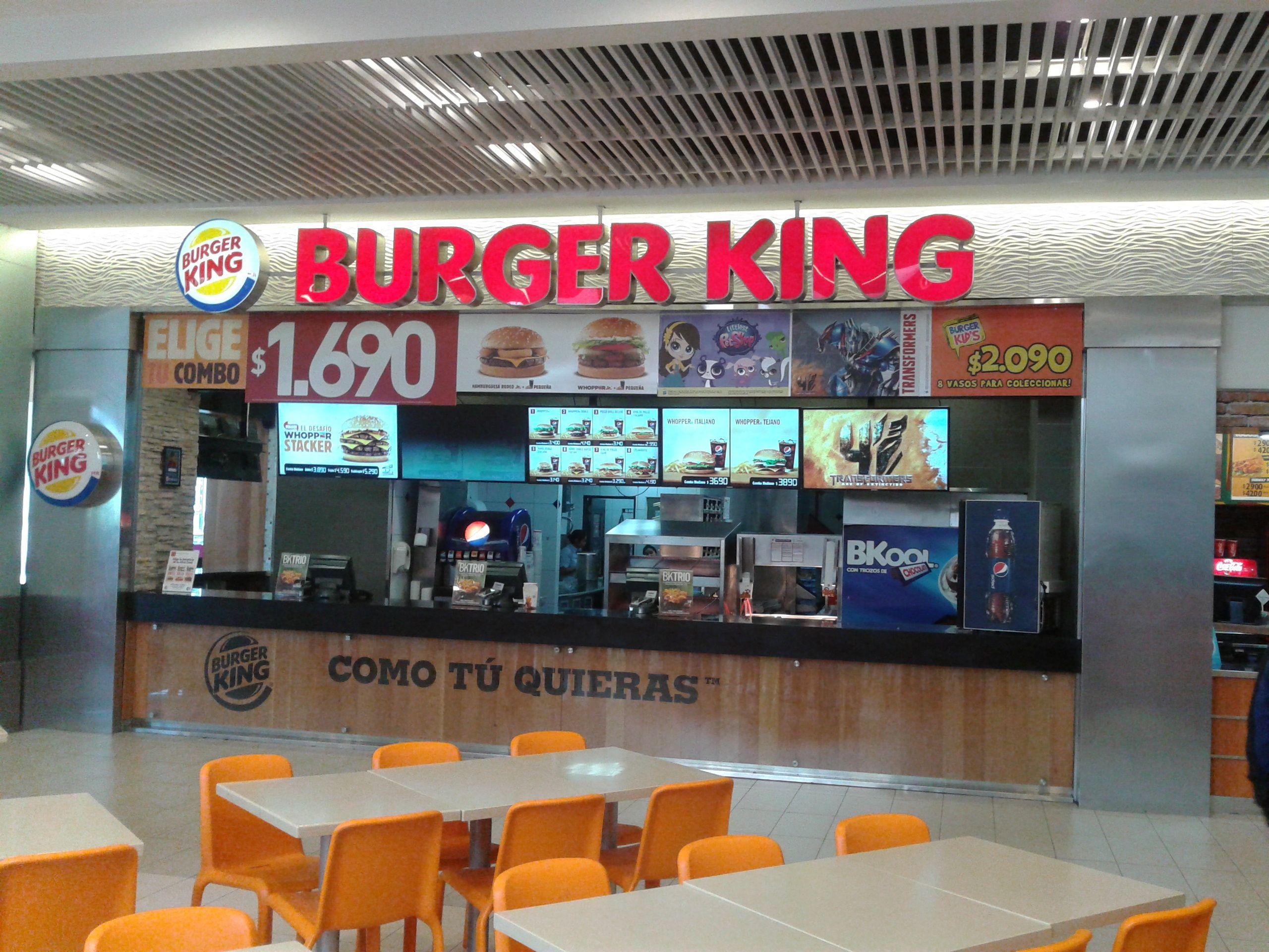 Burger king dining room