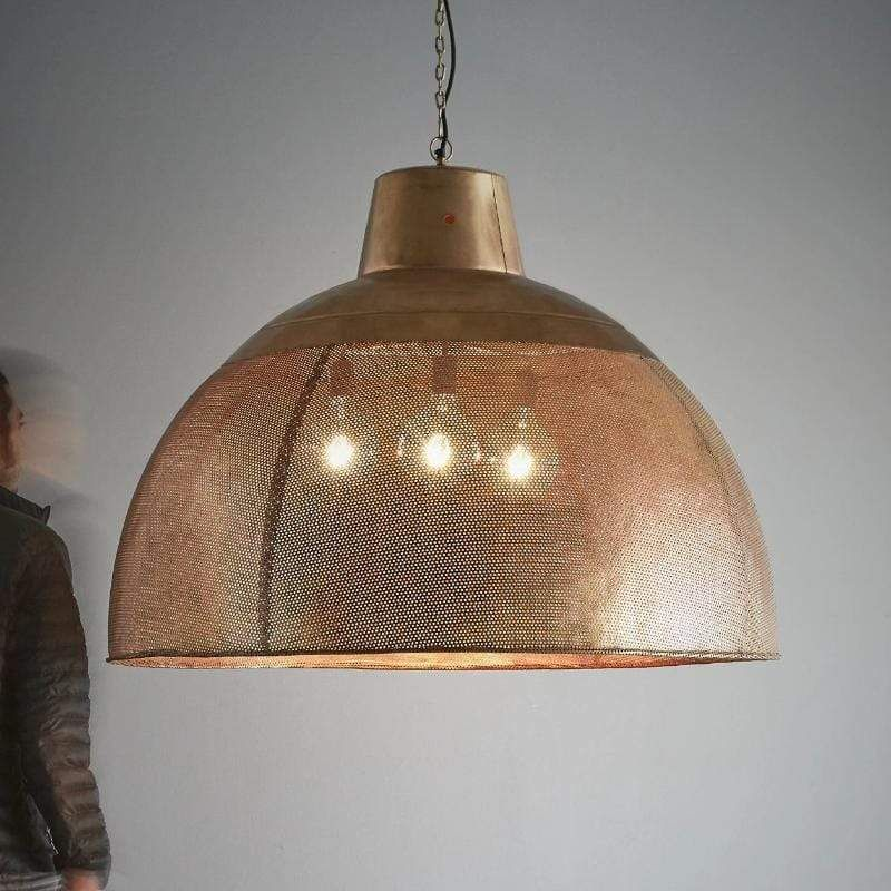 Metal Dome Extra Large Pendant Lamp Gold Includes Energy Efficient Light Bulb Project Dome Pendant Lighting Pendant Lighting Dining Room Large Pendant Lamp
