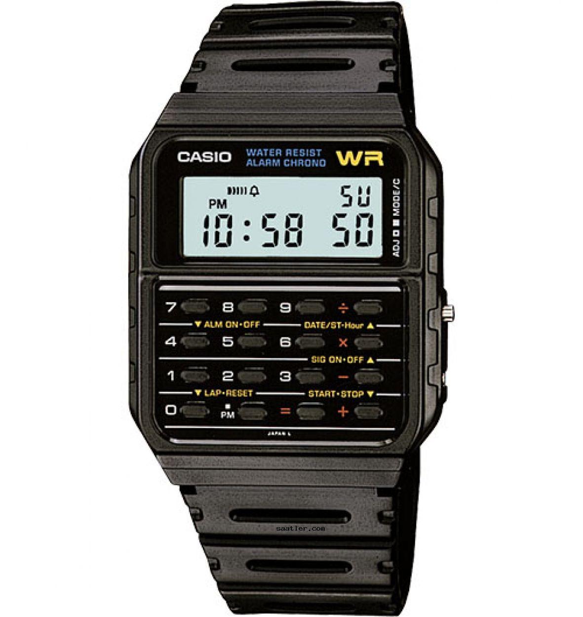 Casio Ca 53w 1z Kol Saati Erkek Kol Saatleri Siyah Kaslar Ve Saatler