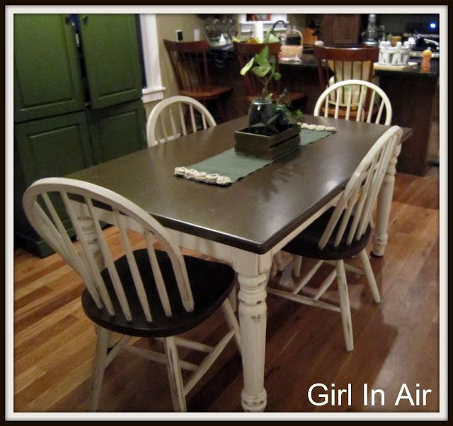Before And After Party The Guest Room Kitchen Table Makeover Painted Kitchen Tables Furniture Rehab Distressed kitchen table and chairs