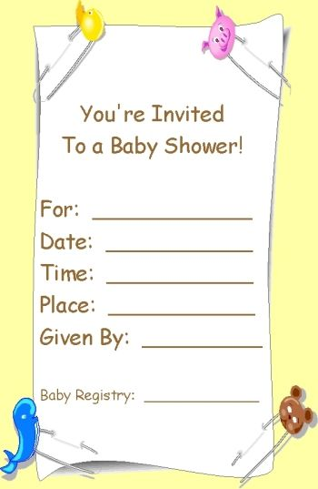Baby Shower Invitations: Printable Baby Shower Invites Template