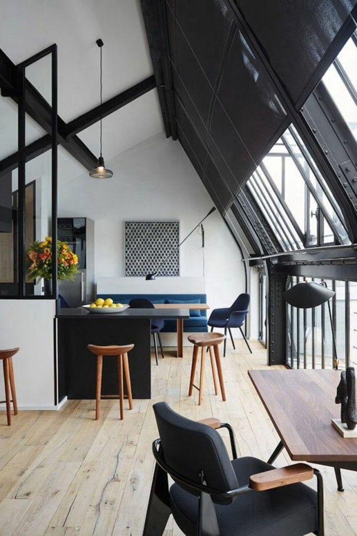 0 Amenagement En Longueur Amenagement Salon 20m2 Sol En Parquet Clair Amenagement Salon Architecte Interieur Style Loft