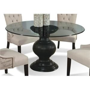 Serena Round Glass Dining Table With Pedestal Base By CMI