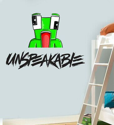 unspeakable gaming logo wall art vinyl stickers minecraft on wall logo decal id=13652