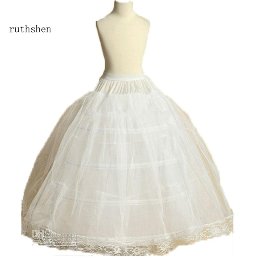 Petticoat for wedding dress  Ruthshen Nuovo Arrivo Flower Girls Petticoat  Hoop Con Applicazioni