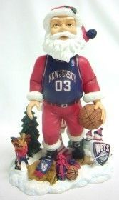 New Jersey Nets Santa Forever Collectibles Bobblehead Z157-8132911621