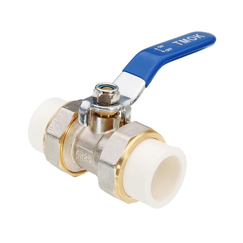 Tmok 3 4 1 1 1 4 Ppr Brass Ball Valve Heat Fusion Double Union Socket Plumbing Fitting Faucets From Furniture Home Improvement On Banggood Com In 2020 Plumbing Faucet Accessories Brass