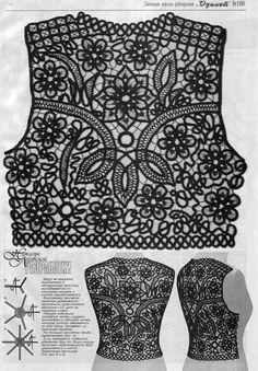 Romanian Point Lace crochet in Duplet magazine #100.