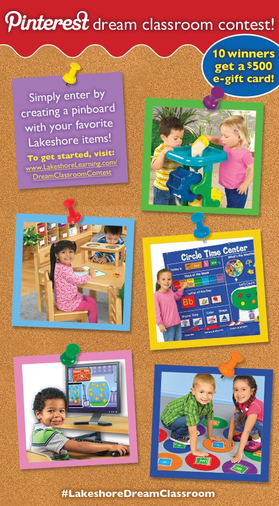 Visit www.LakeshoreLearning.com/DreamClassroomContest to enter the #LakeshoreDreamClassroom Contest!