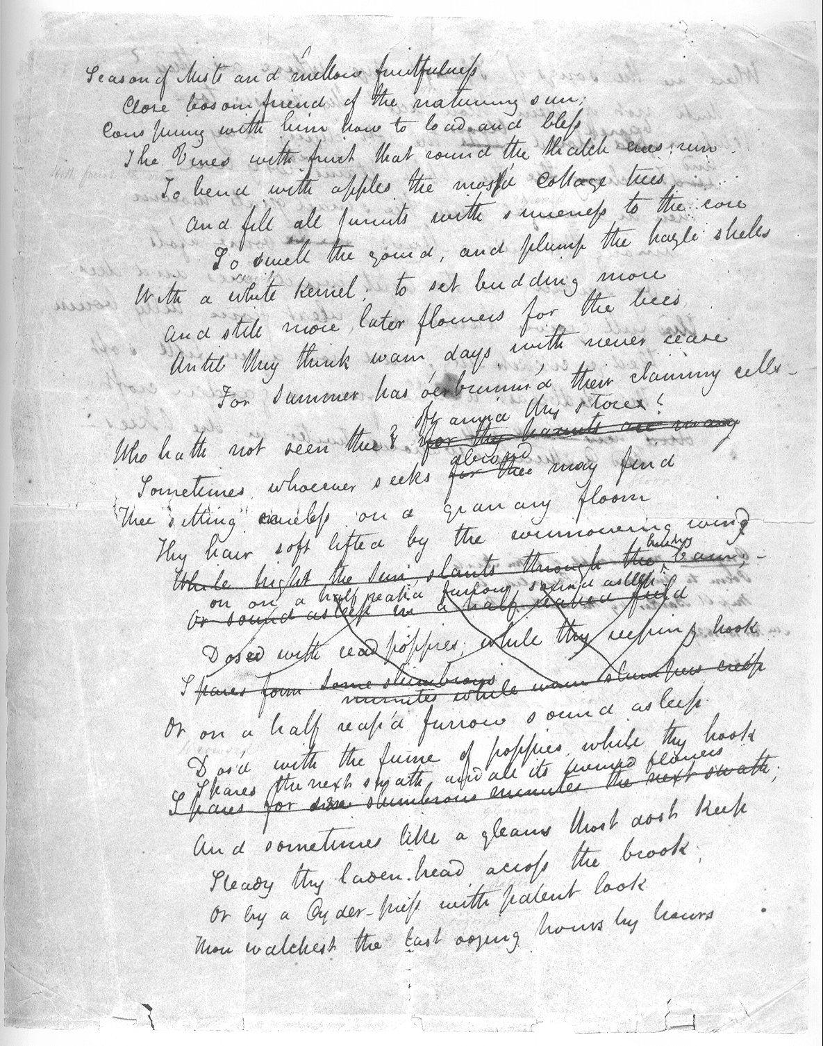 003 Season of mists… Keatsiana Keats to autumn, John