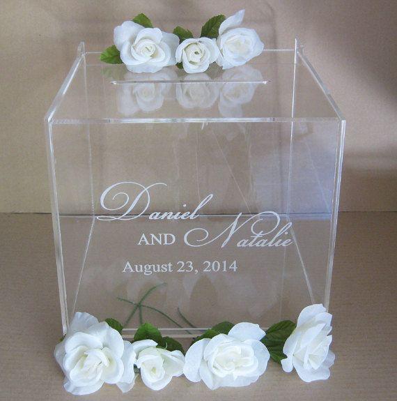 Custom Engraved Acrylic Box Wedding Card Box Gift by Plasticsmith