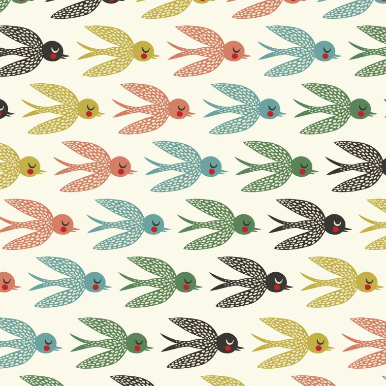 Flying south by Helen Dardik. I just love this wallpaper!