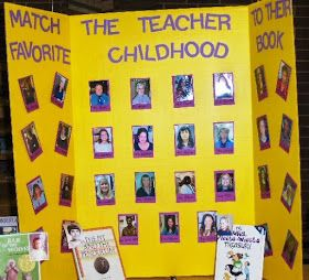 Library Displays: Match the Teacher to Their Favourite Childhood Book