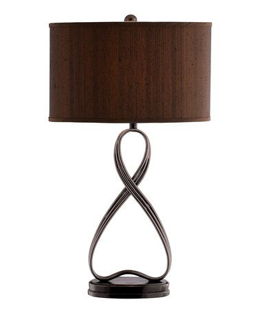 Brown Infinity Table Lamp By Timber Lane Furniture,