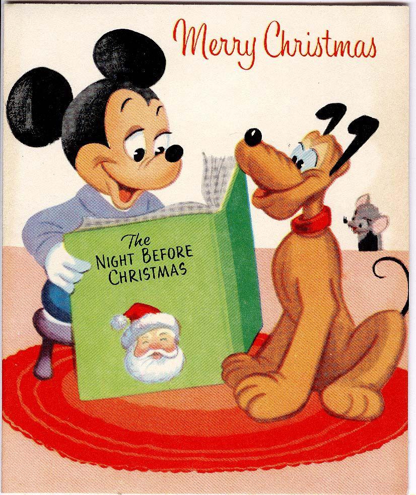 Midcentury Christmas Greetingcard Mickeymouse Disney Pluto Gibson Disney Christmas Cards Disney Cards Walt Disney Mickey Mouse
