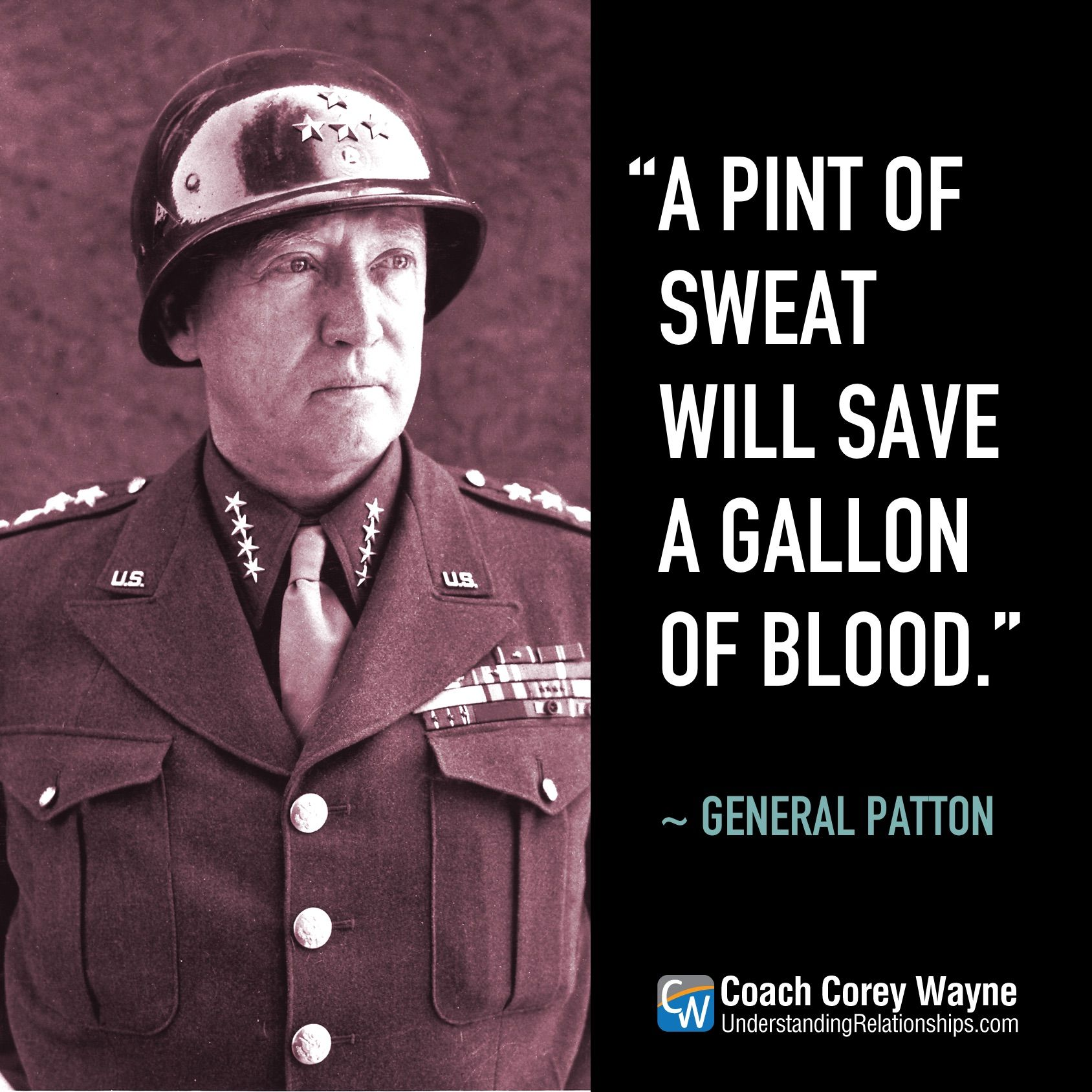 Georgepatton Generalpatton Usarmy Wwii Oldbloodandguts Leadership Military Hardwork Strategy Succ Patton Quotes Military Quotes General Patton Quotes