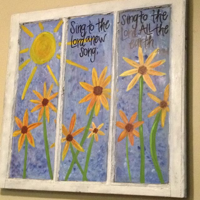 Painted window do it yourself pinterest window crafts and crafty painted window solutioingenieria Gallery