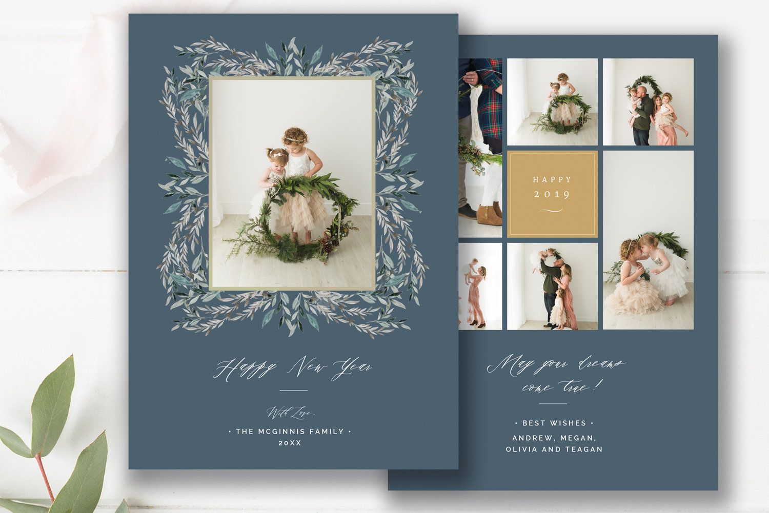 Happy New Years Photo Card Template, Templates