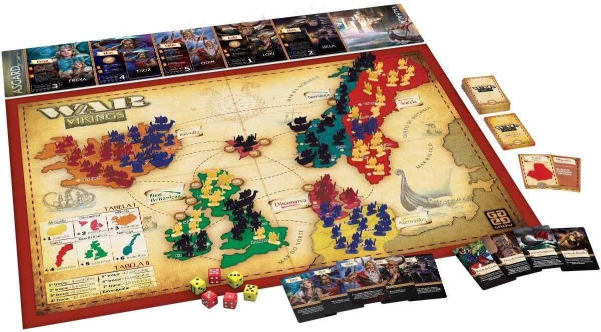 War Vikings Grow Jogos De Tabuleiro Jogos De Estrategia Monopoly