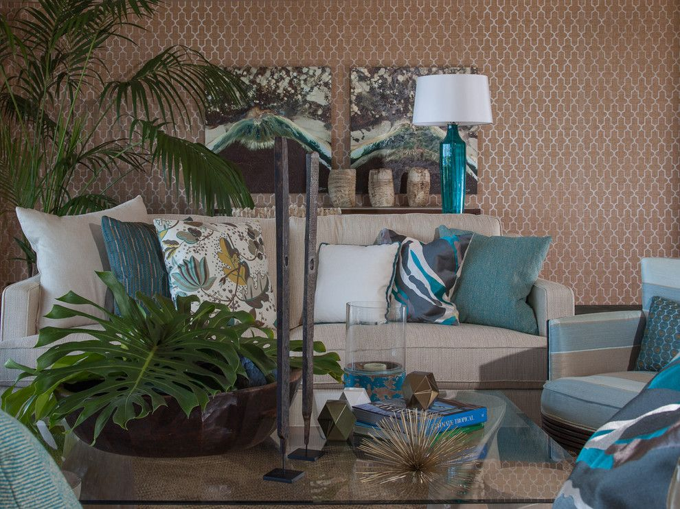 Alluring Living Room Tropical Design Ideas For Turquoise