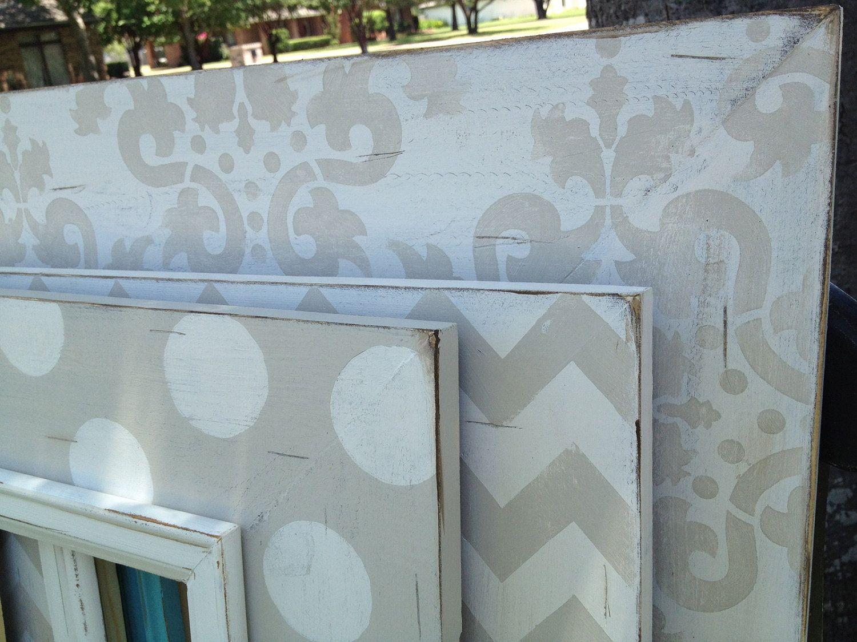 Raumaufkleber für mädchen the paige collectiondistressed frame trio set soft gray antique