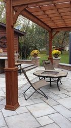 Backyard patio space - Eastvold Landscaping