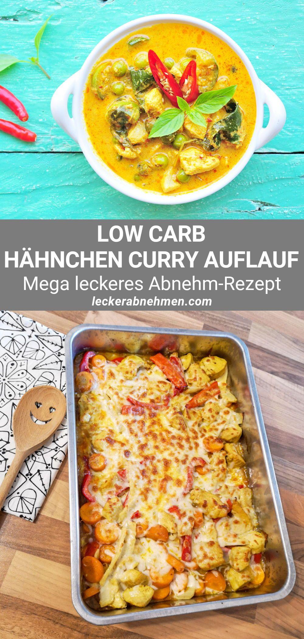 Low Carb Auflauf im Hähnchen Curry Stil – Leckeres Hähnchen Rezept zum Abnehmen
