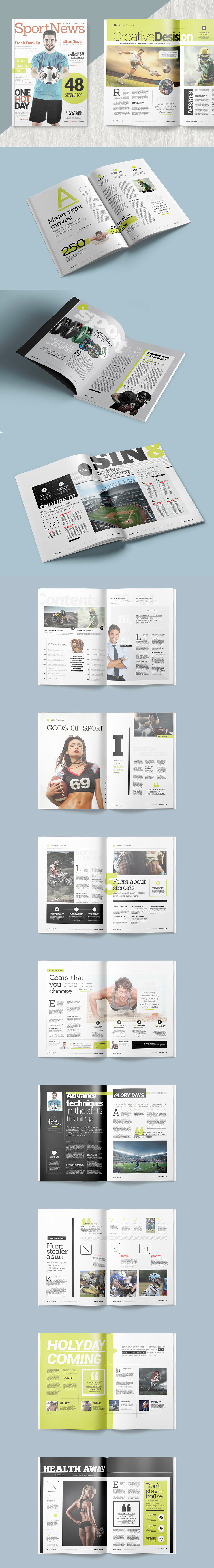 Magazine Template InDesign INDD - 25 Unique Pages | PAPEL ...