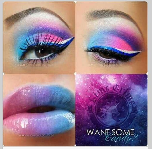 Make Up Crazy Color Of Eyeshadow And Lipstick Candy Makeup Makeup