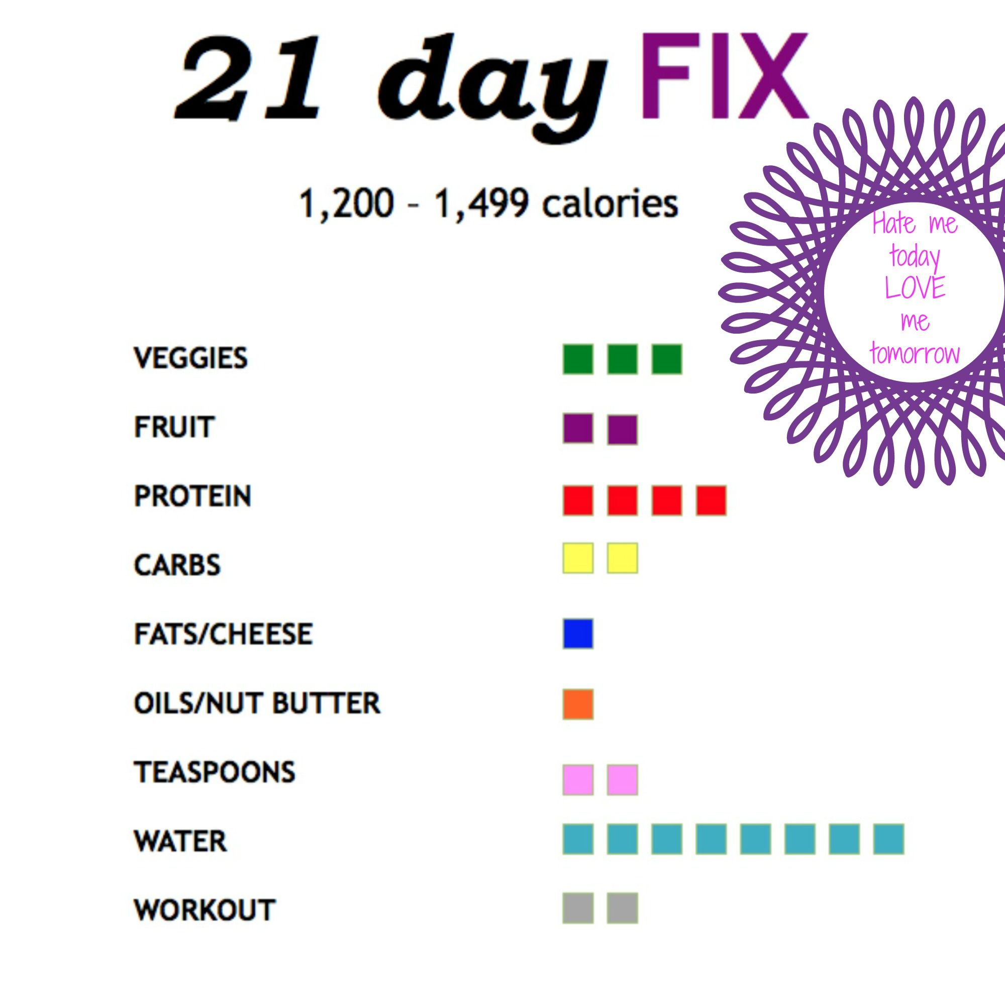 21df Tally Sheet To Track Containers Throughout The Day Calorie Category Laminate