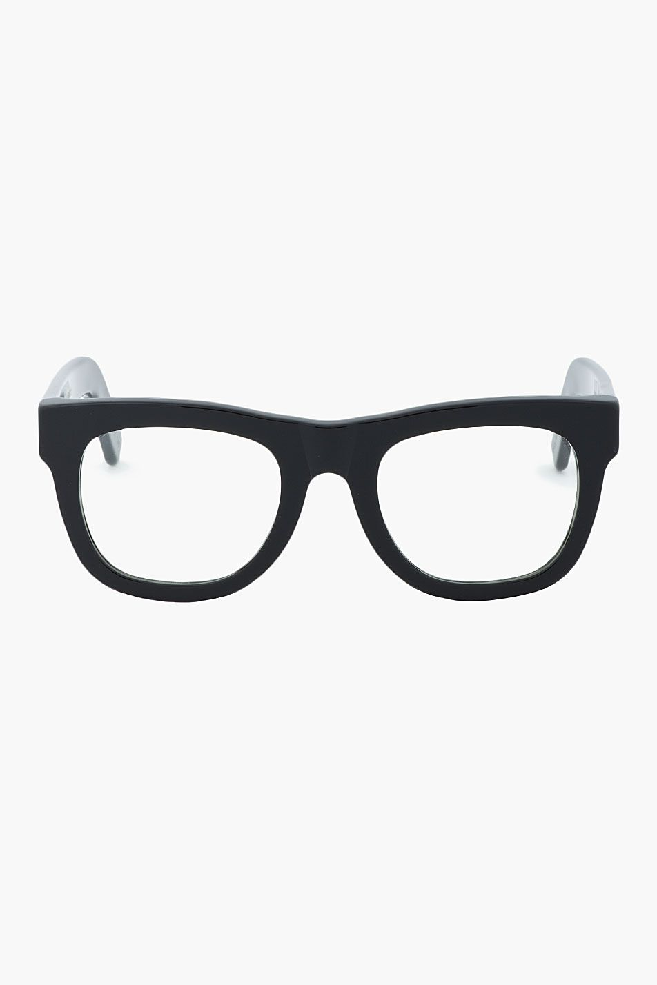 SUPER // Black thick-framed Ciccio glasses 31191M013006 Flat-topped ...