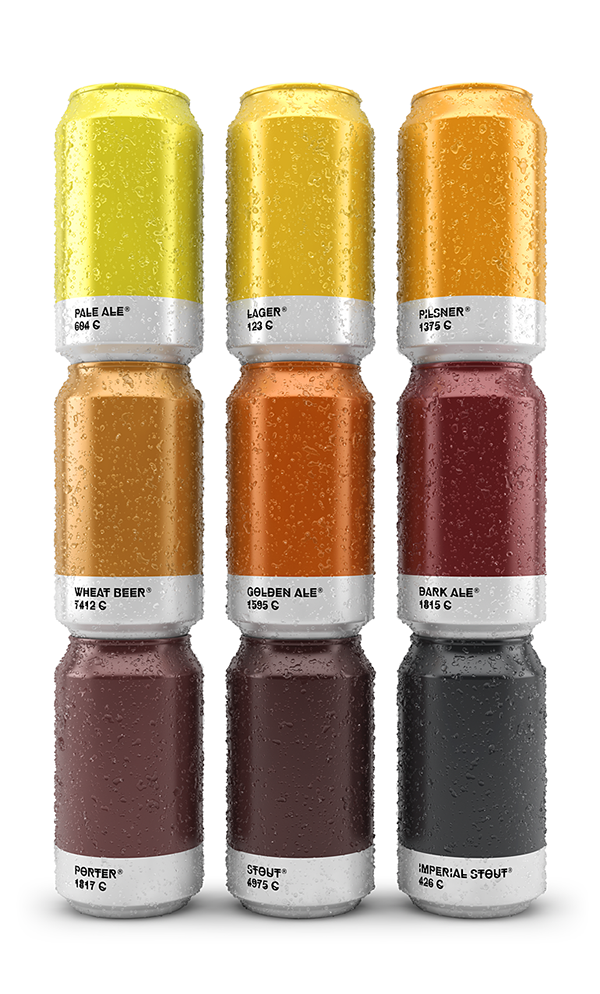 Clever: Beer Labels Matched to Corresponding Pantone Colors | Man Made DIY | Crafts for Men | Keywords: inspiration, beer, modern, pantone