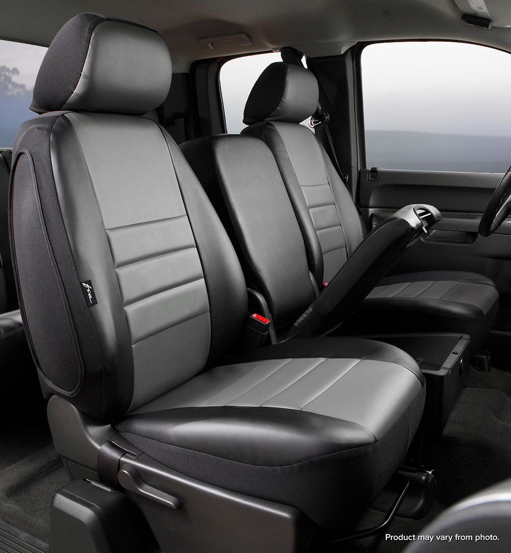 Fia SL6728 GRAY Custom Fit Front Seat Cover Split Seat 40