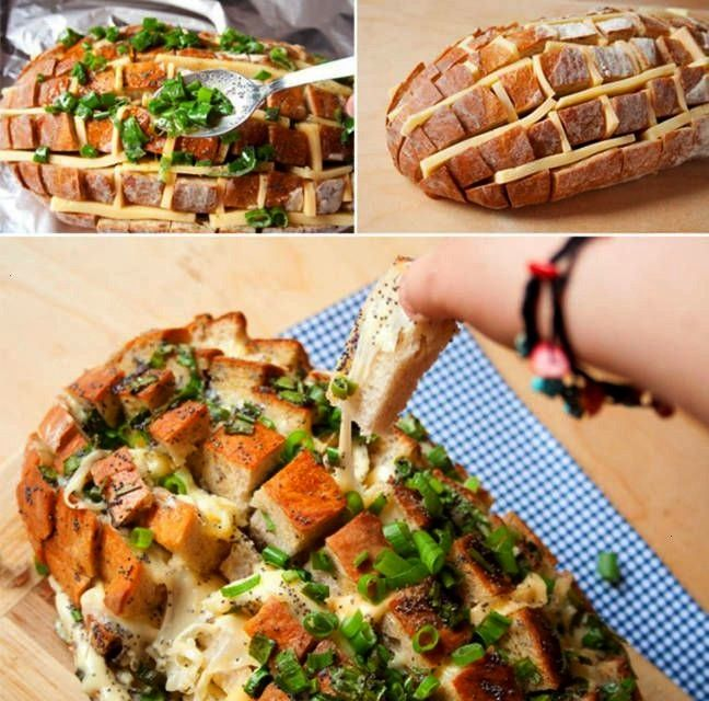 food: The party cheese bread hedgehog is quick /Party food: The party cheese bread hedgehog is quic