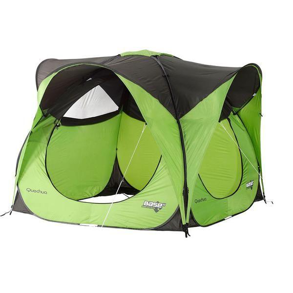 Wurfzelt Pavillon Base Seconds Grun Zelt Camping Zelten Quechua Zelt