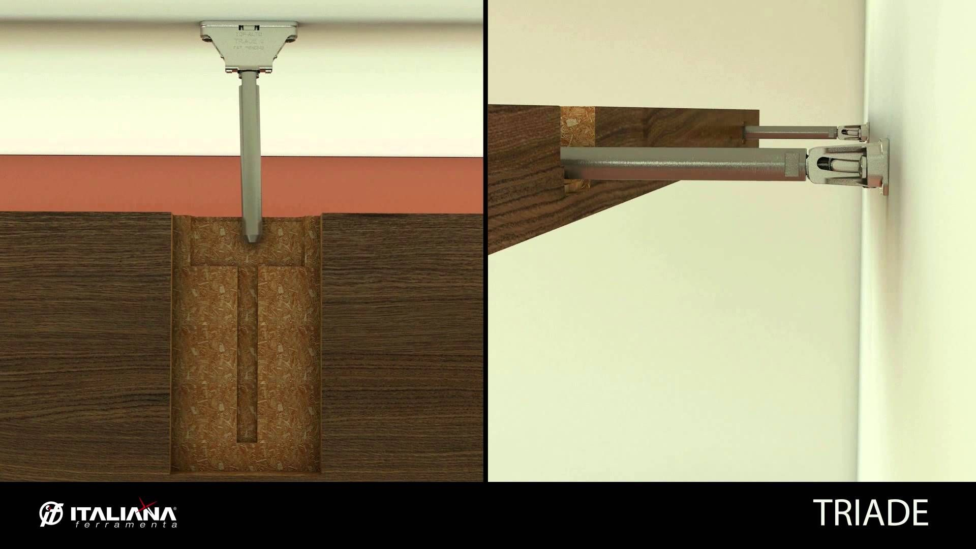 Triade Concealed Shelf Support Shelving System Italiana Ferramenta Wall Mounted Shelves Wall Shelves Floating Shelf Brackets