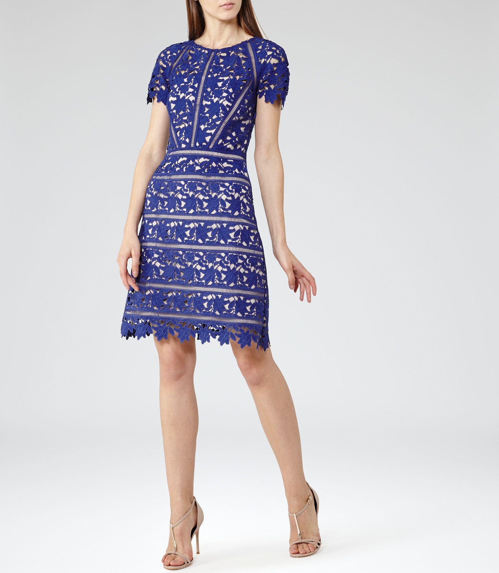 Womens Sapphire Lace Dress - Reiss Orchid | Fashion | Pinterest