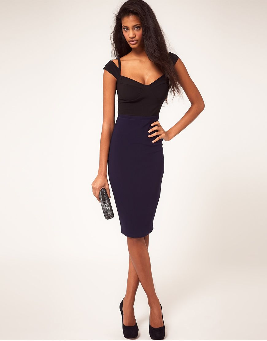 c844e7de67b0 Sexy Pencil Dress With Sweetheart Neckline | Fashion-ated | Pencil ...