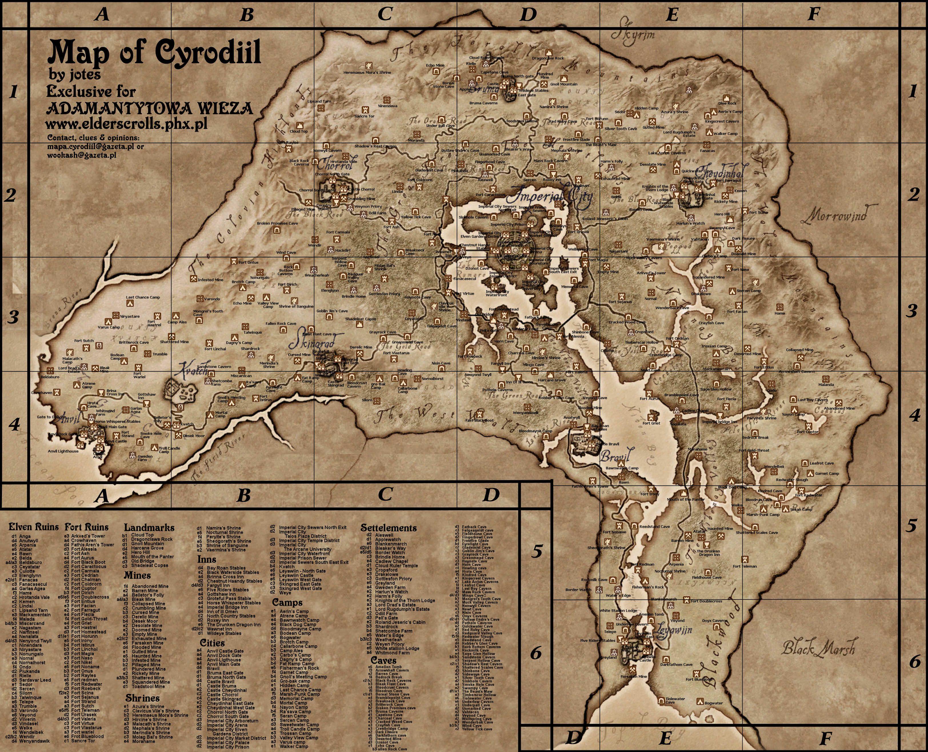 Oblivion Karte.Map Of Cyrodiil By Jotes Nerdy Maps Map Elder Scrolls Vintage