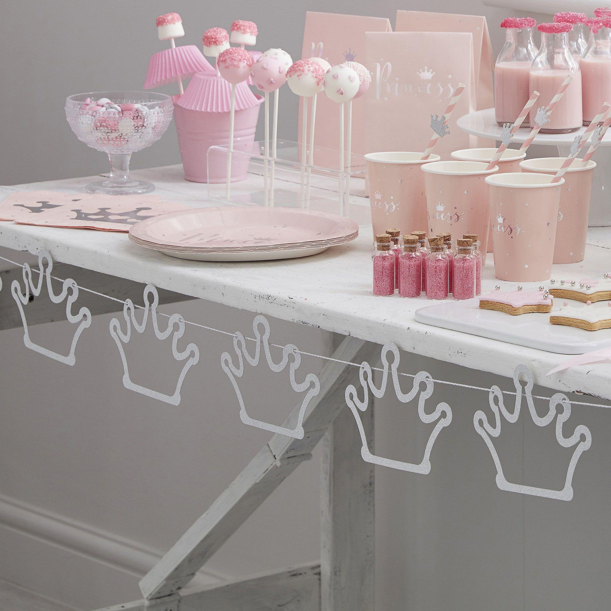 Baby Girl Baptême Jour de Fête Décoration de Table Pack-organza ballons /& BOWS